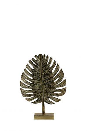 Ornament 23,5x8x33cm LEAF goud 6991485 Quality2life.nl