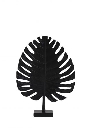 Ornament 30x8x42cm LEAF zwart 6991512 Quality2life.nl