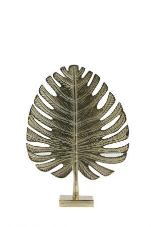 Ornament 30x8x42cm LEAF goud 6991585 Quality2life.nl