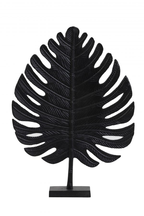 Ornament 38x12,5x52,5cm LEAF zwart 6991612 Quality2life.nl