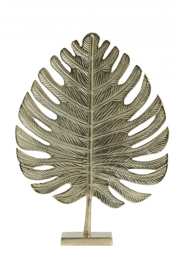 Ornament 38x12,5x52,5cm LEAF goud 6991685 Quality2life.nl