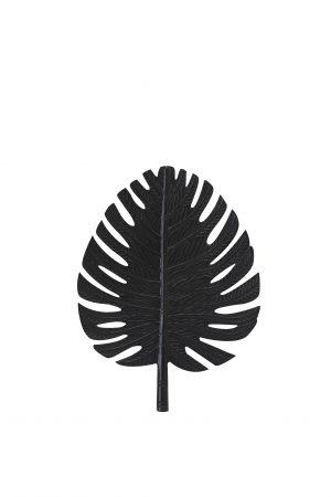Wandornament 23,5x31cm LEAF zwart 6991712 Quality2life.nl