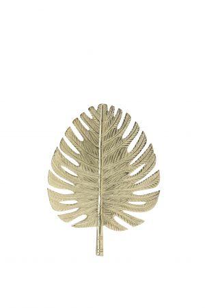 Wandornament 23,5x31cm LEAF goud 6991785 Quality2life.nl