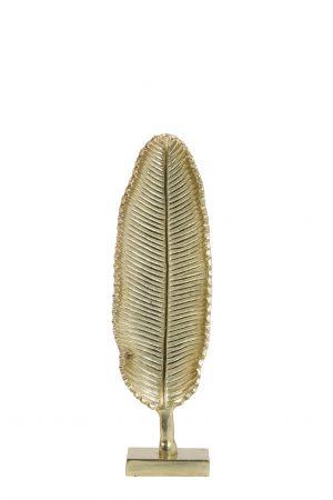 Ornament 10x8x41cm LEAF goud 6992085 Quality2life.nl