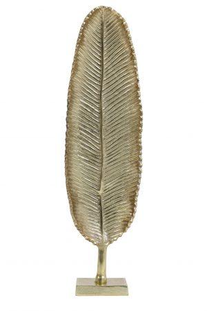 Ornament 14x8x56cm LEAF goud 6992185 Quality2life.nl