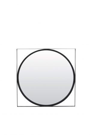 Spiegel 60x60x2,5cm ZOLTAN zwart 7311412 Quality2life.nl