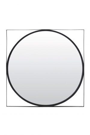 Spiegel 80x80x2,5cm ZOLTAN zwart 7311512 Quality2life.nl