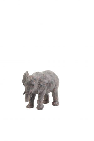 Ornament 25x12,5x17,5cm ELEPHANT bruin 7401183 Quality2life.nl