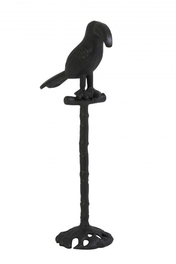 Ornament 15,5x9x32,5cm TOUCAN zwart 7411712 Quality2life.nl