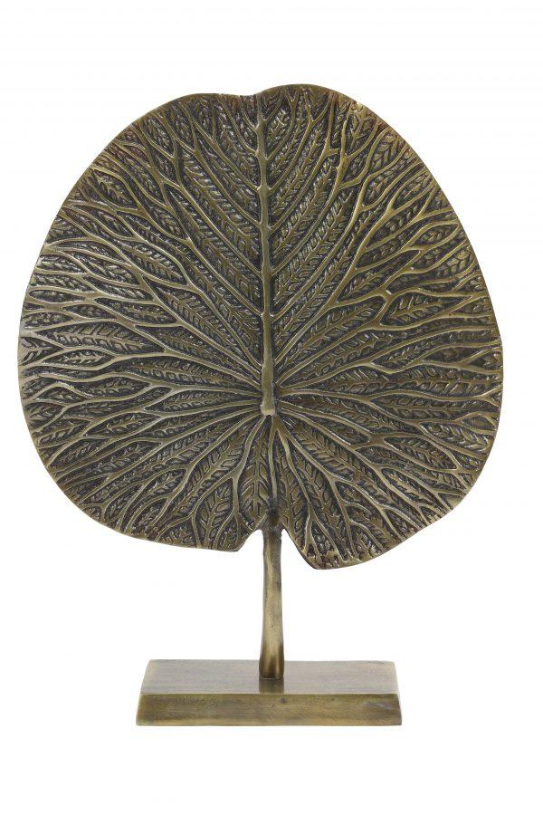 Ornament op voet 34x9x43cm LEAF brons 7418718 Quality2life.nl