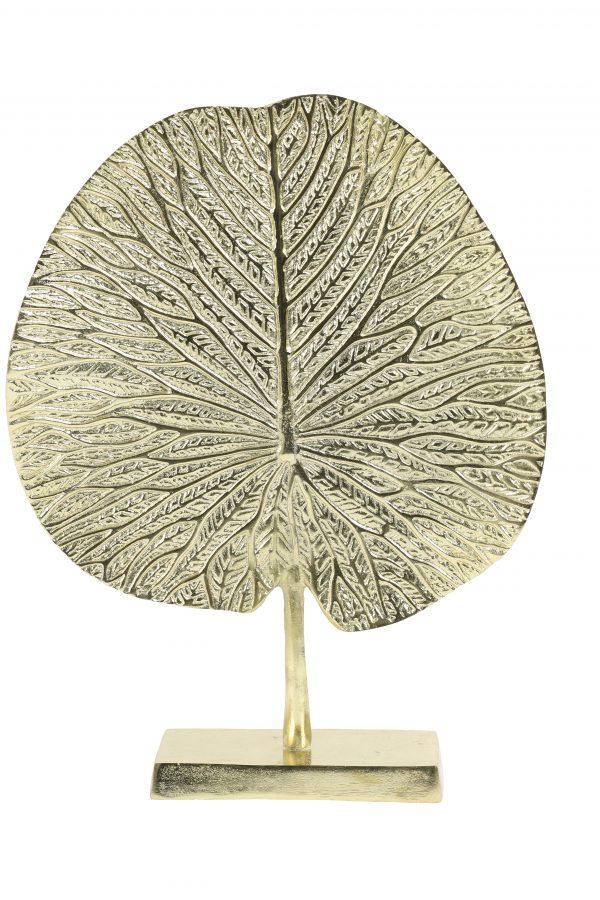 Ornament op voet 34x9x43cm LEAF goud 7418785 Quality2life.nl