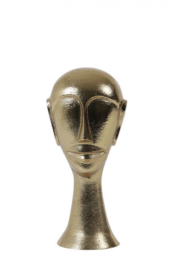 Ornament 10,5x10x22,5cm HEAD goud 7419985 Quality2life.nl