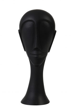 Ornament 11,5x10x28cm HEAD zwart 7420012 Quality2life.nl
