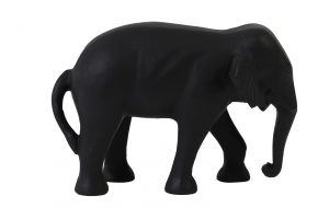 Ornament 22x14x15cm ELEPHANT zwart 7420312 Quality2life.nl