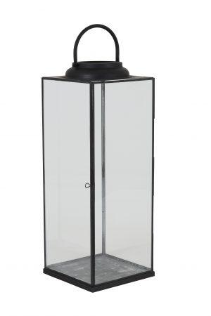 Lantaarn 21x21x56,5cm ARVO glas zwart 7712412 Quality2life.nl