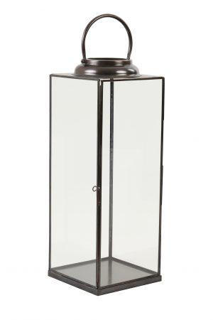 Lantaarn 21x21x56,5cm ARVO glas brons 7712485 Quality2life.nl