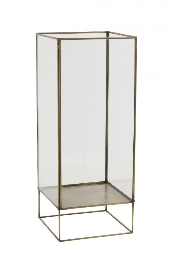 Windlicht 24x24x60cm SOLAT brons 7731718 Quality2life.nl