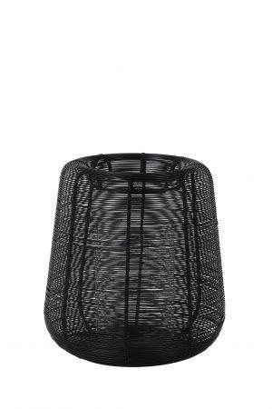 Windlicht Ø18x20,5cm ADETA zwart+Glas 7732612 Quality2life.nl