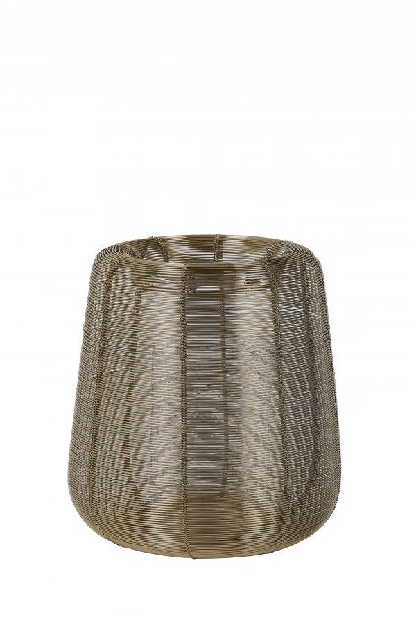 Windlicht Ø18x20,5cm ADETA goud+Glas 7732685 Quality2life.nl