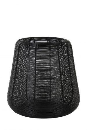 Windlicht Ø28x29cm ADETA zwart+Glas 7732712 Quality2life.nl