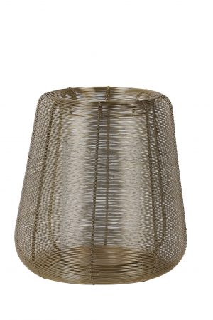 Windlicht Ø28x29cm ADETA goud+Glas 7732785 Quality2life.nl