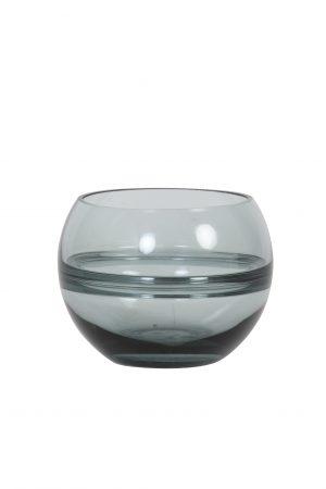Theelicht Ø13x10cm SOLIS glas grijs 7735025 Quality2life.nl
