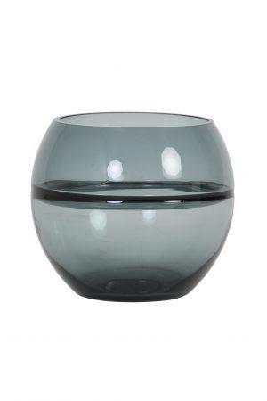 Theelicht Ø15x13cm SOLIS glas grijs 7735127 Quality2life.nl