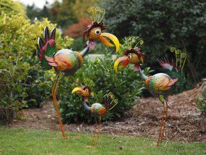 Tuinornament Kleurrijke fantasie vogel MD16125SET, MD16125, MD16126, MD16127 Quality2life.nl