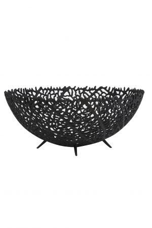 Schaal Ø46x18 cm GALAXA mat zwart 6323912 Quality2life.nl