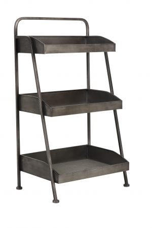 Etagere 3 laags 49,5x34x86 cm KOLIND rough metal 6606816 Quality2life.nl