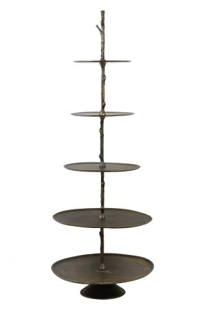 Etagere 5 laags 61,5x56x175 cm TRESA antiek brons 6608350 Quality2life.nl