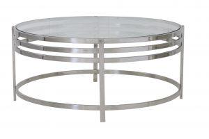 Salontafel Ø103x45 cm ANGOL glas+nikkel