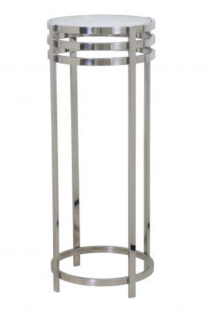 Zuil Ø40x100 cm RINGS nikkel+glas