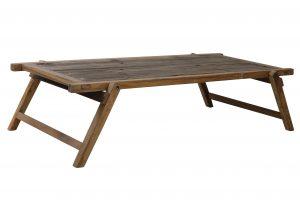Salontafel 180x85x43,5 cm MILITARY hout bruin