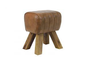 Kruk 38x30x46 cm RAMY leer bruin 6738383 Quality2life.nl