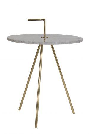 Bijzettafel Ø42,5x56 cm MOYUTA marmer grijs-goud 6747827 Quality2life.nl