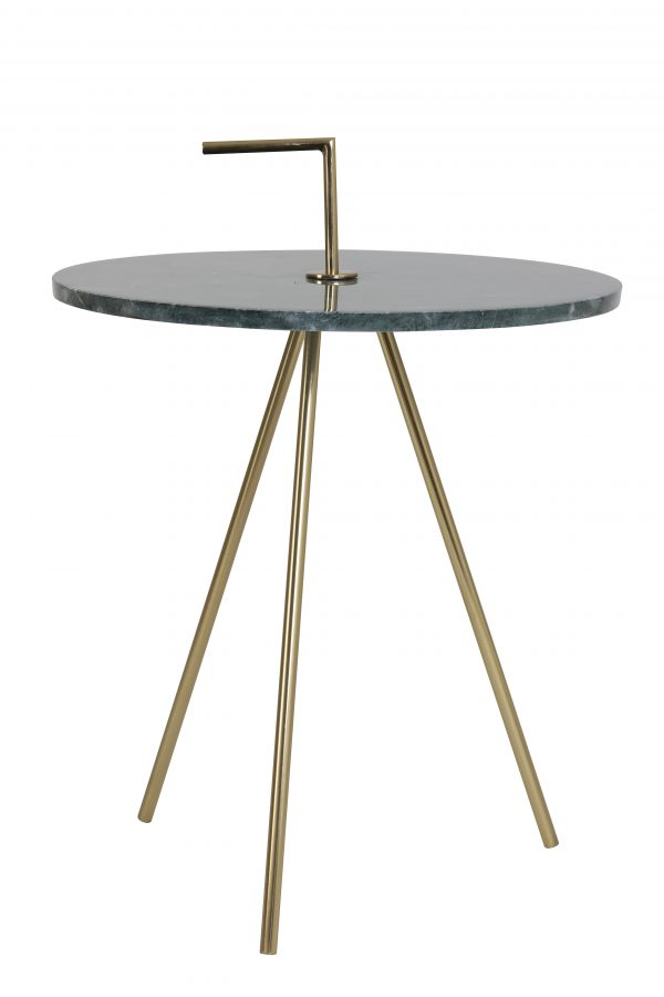 Bijzettafel Ø42,5x56 cm MOYUTA marmer groen-goud 6747881 Quality2life.nl