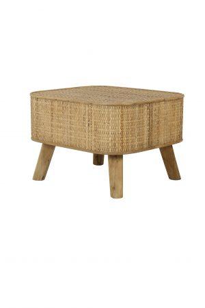 Bijzettafel 46x42x31 cm CANYA hout naturel 6758177 Quality2life.nl
