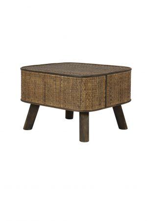 Bijzettafel 46x42x31 cm CANYA hout donker bruin 6758184 Quality2life.nl