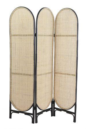 Kamerscherm 150x180 cm HERWIN webbing naturel-zwart 6759612 Quality2life.nl