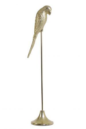 Ornament op voet 24x17x86 cm PARROT glanzend goud 6976798 Quality2life.nl