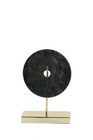 Ornament 20x10x28 cm BAYON marmer groen-goud 6986981 Quality2life.nl