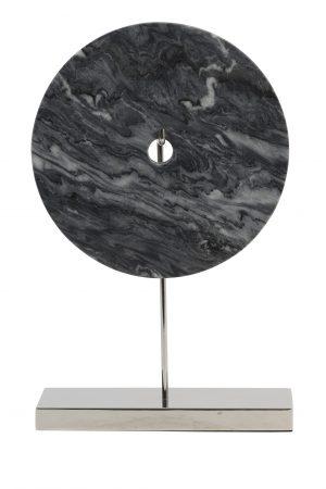 Ornament 30x10x43 cm BAYON marmer grijs-nikkel 6987027 Quality2life.nl