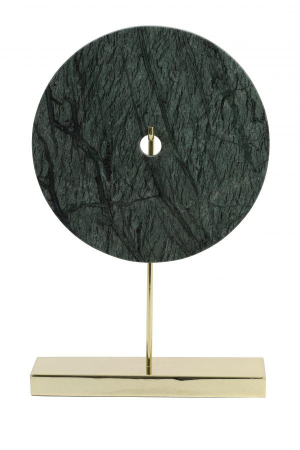 Ornament 30x10x43 cm BAYON marmer groen-goud 6987081 Quality2life.nl