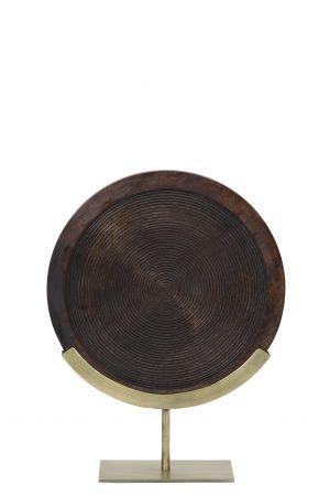 Ornament op voet 35x12x47 cm KAMUDI hout bruin-antiek brons 6993918 Quality2life.nl