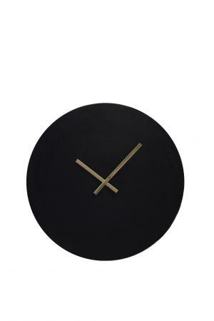 Klok Ø59 cm LICOLA antiek zwart 7107416 Quality2life.nl