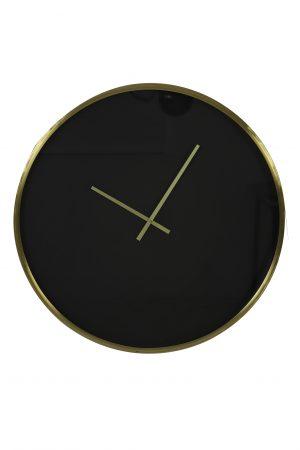 Klok Ø61 cm SEPONI zwart-goud 7107912 Quality2life.nl