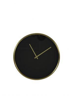Klok Ø41 cm SEPONI zwart-goud 7108512 Quality2life.nl