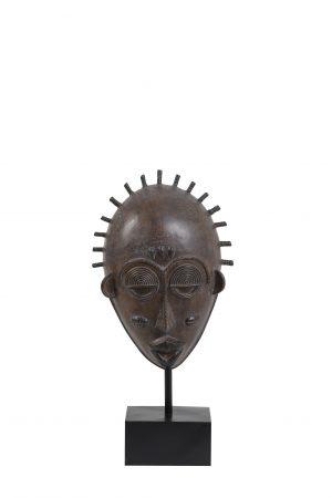 Ornament op voet 26,5x13,5x55,5 cm MASK bruin 7401483 Quality2life.nl