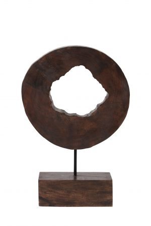 Ornament op voet 30x10x43 cm XERRA hout bruin 7414164 Quality2life.nl
